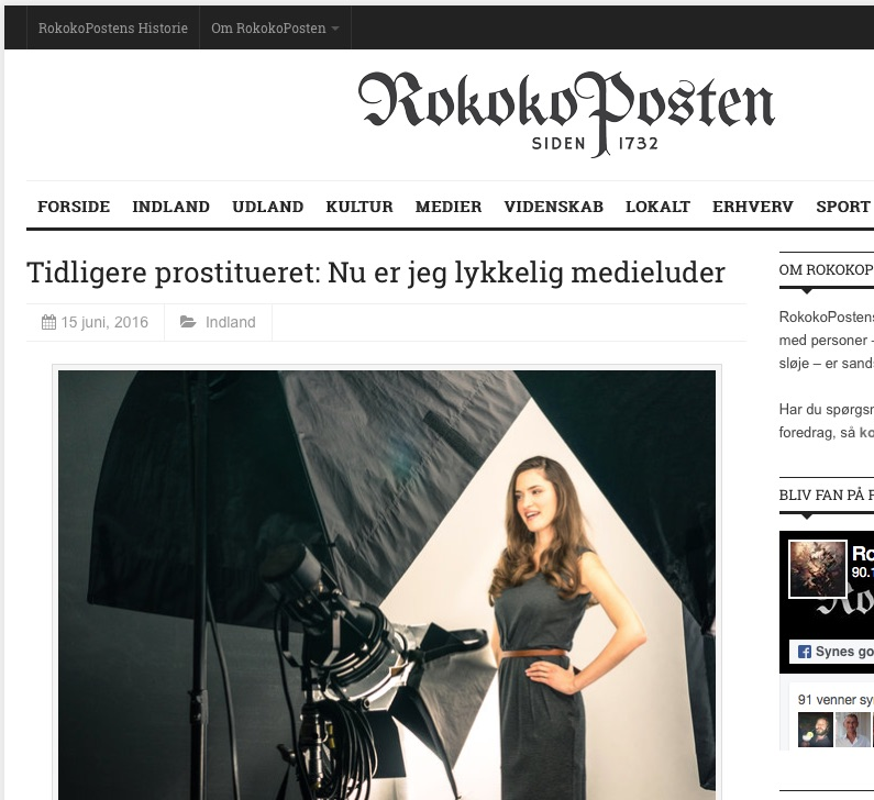 RokokoPosten og Zenia Effenberger Larsen